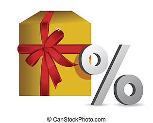 gift percentage illustration design