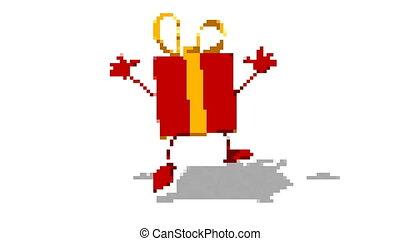 Gift pixel art