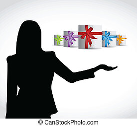 gift presentation illustration design