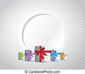 gift presents card illustration design