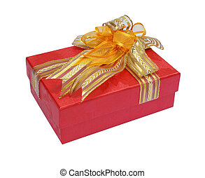 Gift red box isolated