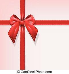 Gift red ribbon illustration