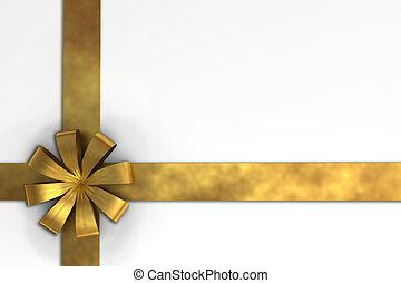 gift ribbon - A 3D render