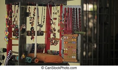 Gift shop on a street with jewelry