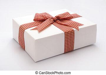 Gift against white background