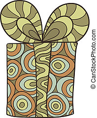Gift - Stylized vector gift box with a bow