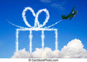Gift symbol in the sky