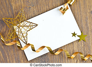Gift tag for christmas - Gift tag with copy space for ...