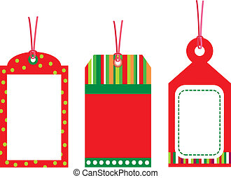 Gift tag on white background