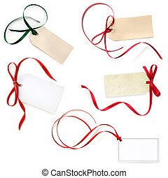 Gift Tags Collection Isolated on White
