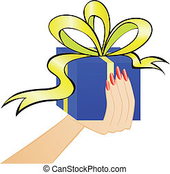 gift through the paper