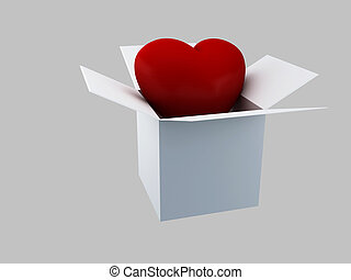 Gift Valentines Day, 3d Illustratio