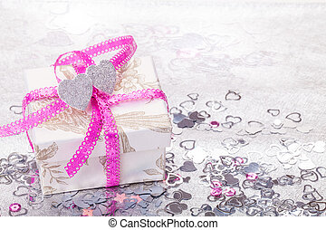 Gift, valentine's day, hearts