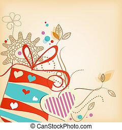Gift vector background
