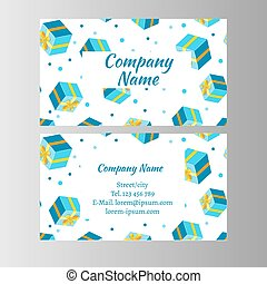 Gift Voucher Card. Vector illustration on white background