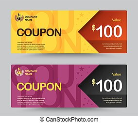 Gift voucher card template design. for special time, Coupon...