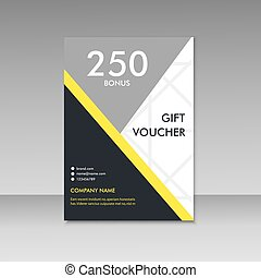 Gift voucher certificate coupon template. Vector cover...