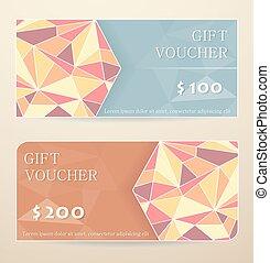 Gift voucher design - Decorative gift voucher design with...