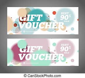 Gift voucher design template. Discount voucher template