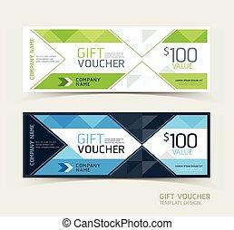 Gift voucher design template.