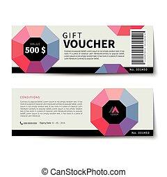 gift voucher discount template flat design