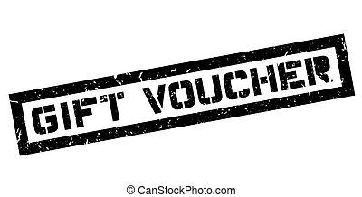 Gift Voucher rubber stamp