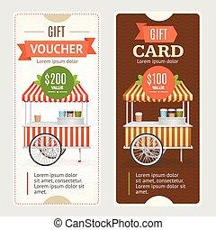 Gift Voucher Set. Vector