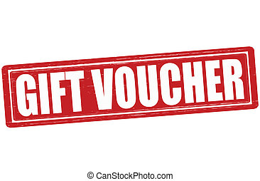 Gift voucher - Stamp with text gift voucher inside, vector...