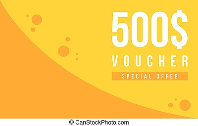Gift voucher template design collection