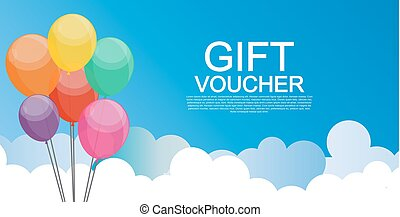 Gift Voucher Template for Discount Coupon Vector...