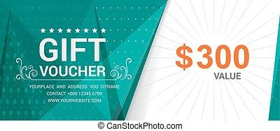 Gift voucher template modern pattern vector design. Vector...