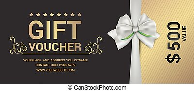 Gift voucher template modern pattern vector design. Vector...