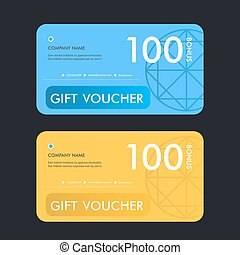 Gift voucher template. Vector design illustration.