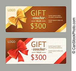 Gift Voucher Template. Vector