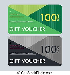 Gift voucher template with modern pattern. Vector design