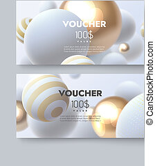 Gift voucher templates. Set of discount certificates....