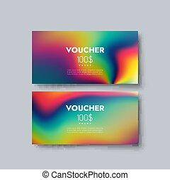 Gift voucher templates. Set of discount certificates. Vector...