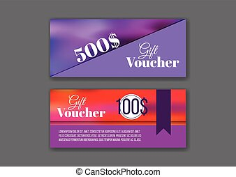 Gift voucher templates set