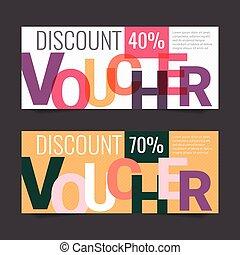 Gift Voucher Vector background for banner, poster, flyer