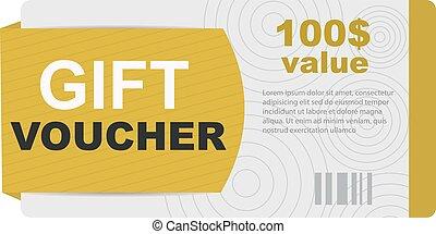 Gift voucher vector. Gift voucher certificate sale coupon...