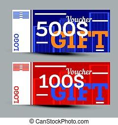 Gift voucher. Vector illustration.