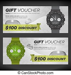 Gift voucher with watches