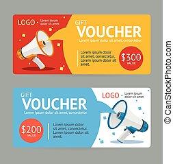 Gift Voucher.Flat Design. Vector - Gift Voucher. Flat...