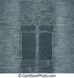 gift web icon, flat design