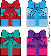 Gift With Bow Colors