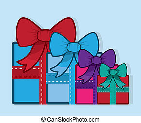Gift With Bow Colors Group
