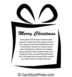 Gift with copy space isolated on white background, vector