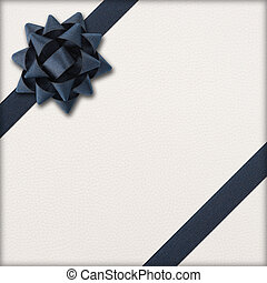 gift with dark bow