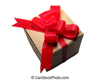 Gift With Red Bow