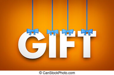Gift word hanging on rope 3d illustration stock illustrations gift word hanging on rope 3d illustration negle Image collections